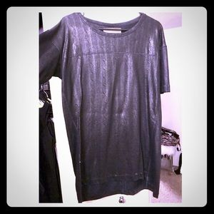 Zara faux leather look/coated tunic M